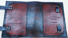 Custom Handmade Leather Binders, Bible Covers and Leather Bible Cover, Leather Book Covers, Leather Books, Leather Case, Leather Binder, Leather Notebook, Leather Journal, Leather Crafts, Leather Projects