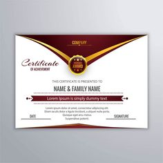 Abstract Certificate Of Achievement Freepik Award Certificates