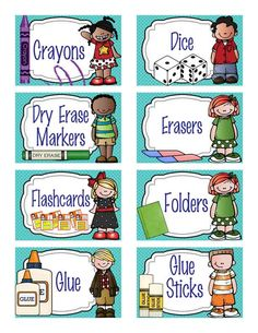 Classroom labels to get you ready and organized for the fall.  Visit ARTrageous Fun on Teachers Pay Teachers