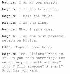 Not quite Magnus but still funny.  A SNACK
