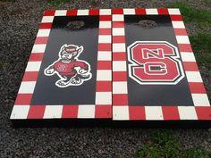 NC State cornhole boards.