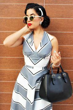 Dress, glasses, hair arrow...