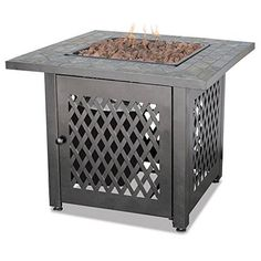 awesome Outdoor Firebowl, With The Durability Of Weather Resistant Steel. Its Decorative Base Cleverly Conceals A Propane Tank (Not Included) And Control Panel
