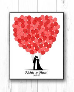 Personalized Wedding Guest Book Alternative Custom Guest Book Ideas PRINTABLE Unique Wedding Guestbook Bride and Groom Silhouette Balloons Wedding Guest List, The Wedding Date, Wedding Guest Book Alternatives, Wedding Book, Diy Wedding, Wedding Souvenir, Handmade Wedding, Elegant Wedding, Wedding Favors