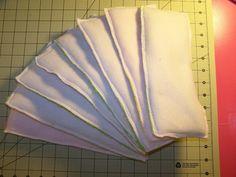 DIY cloth diaper inserts w/ fleece, microfiber and flannel