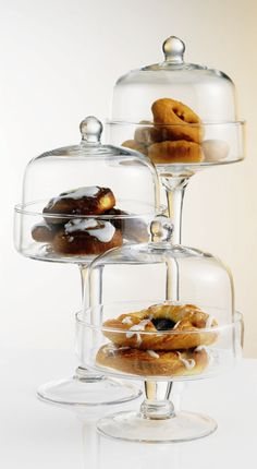 Home Essentials Covered Pastry Stands (Set of 3)