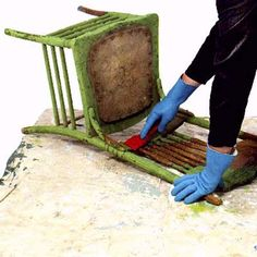 DIY: HOW TO STRIP OLD PAINT... THE RIGHT WAY! The right way to strip furniture of old paint, and turn tag-sale trash into treasures. | Photo: Mark Weiss | thisoldhouse.com