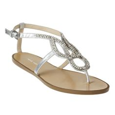 @Erica Cerulo W Sandals for Lauren's Wedding - Nine West: Sandals > Flat Sandals > Twistshout - Jeweled Sandal
