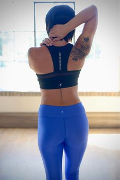 Black all star bra with our new royal light n tight leggings ! 😍 this look! Athletic Outfits, Athletic Clothes, Fitness Fashion, Sporty Fashion, Workout Attire, Sporty Style, Gym Wear, Tight Leggings, Active Wear For Women