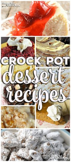 Mikey has recently dubbed me the Sugar Princess. So it was only fitting that this week I share some of our favorite desserts! I have pulled together a list of some amazing Crock Pot Dessert Recipes for you and yours to enjoy!