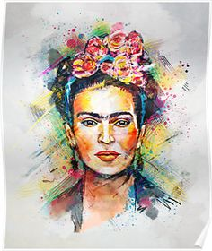 """""""Frida Kahlo"""" Posters by tracieandrews 