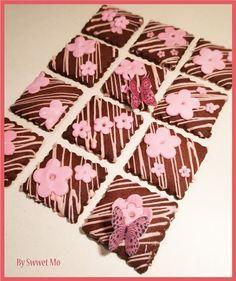 pink chocolate cookies  galletas de chocolate rosa