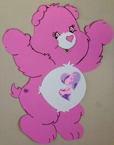 Painel 50cm Ursinhos Carinhosos, para decoração de sala de aula.