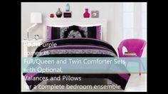 The Posh Purple Bedding is the perfect compliment for teenage girls who like to express their style with deep purple, black, and black zebra stripe patterns . Zebra Print Bedding, Purple Bedding, Black Bedding, Purple Zebra, Deep Purple, Purple And Black, Teenage Girl Bed, Twin Comforter Sets, Comforters