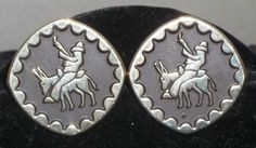 Vintage Mexican Hombre Donkey Silver Tone Cuff Links Cufflinks by ShonnasVintage, $22.99