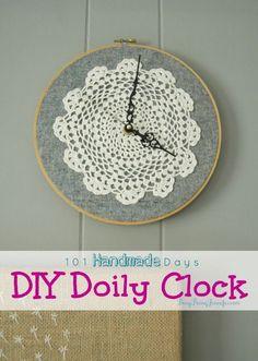 DIY Doily Clock - BusyBeingJennifer.com