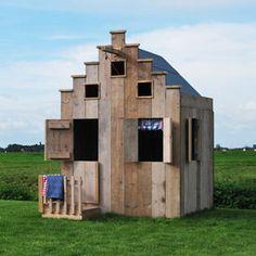 steigerhouten speelhuisjes: speelhuisje amsterdam