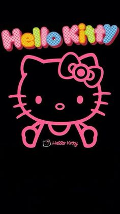 Pink Wallpaper Iphone, Pink Iphone, I Wallpaper, Hello Kitty Backgrounds, Hello Kitty Wallpaper, Hello Kitty Pictures, Pink Hello Kitty, Sanrio Characters, Cute Wallpapers
