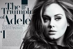 Editorial Design - Rolling Stone Magazine - Adele