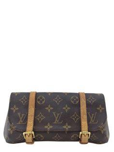 0e6306e89acc Louis Vuitton Monogram Canvas Pochette Marelle Clutch