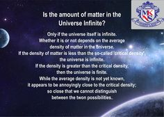 Is the amount of matter in the Universe Infinite?