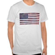 United States Flag Nebula T-shirt