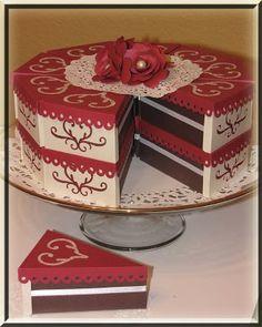 Cricut cake boxes