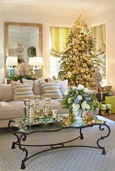 Image result for decoracion de salas en navidad