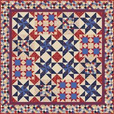 """Patriot Proud"" by Janet Mednick from P&B Textiles"