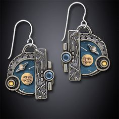 Big Bang Earrings by Dawn Estrin: Silver Earrings available at www.artfulhome.com