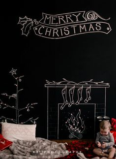 Photo from Christmas Mini Sessions Chalkboard Pictures, Chalkboard Art Quotes, Chalkboard Wedding, Diy Chalkboard, Christmas Photo Booth, Christmas Backdrops, Christmas Scenes, Christmas Mini Sessions, Christmas Minis