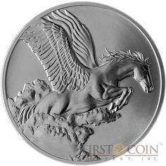 Tokelau Pegasus $5 Creatures of Myth & Legend Silver Coin Year of the Horse Antique Finish 1 oz 2014