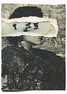 Adriana Petit - b/w collage
