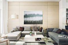 wohnzimmer einrichten beispiele teppichmuster wanddeko zweige