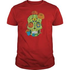 Mexican Tattoo Sugar Skull Flowers Tshirt