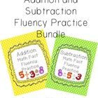 This is a bundle of my Addition Math Fact Fluency Pages and my Subtraction Math Fact Fluency Practice sheets.    Great for daily math drills!    This i...