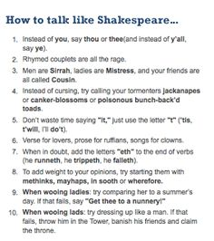 Die 12 Besten Bilder Zu 23 4 National Talk Like Shakespeare