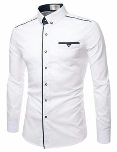 TheLees High Quality Long Sleeve Stretchy Button Down Tailored Shirts African Wear Styles For Men, African Shirts For Men, African Dresses Men, African Clothing For Men, Mens Clothing Styles, Nigerian Men Fashion, African Men Fashion, Only Shirt, Formal Shirts For Men