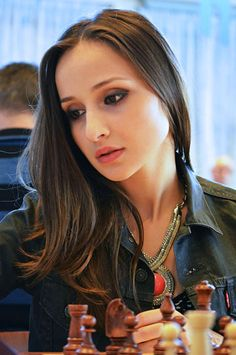 International Master Sopiko Guramishvili, girlfriend (?) of Super Grandmaster Anish Giri