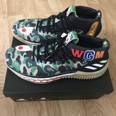 super popular 9c26a eba46 Adidas Dame 4 x Bape Green Camo US9, Mens Fashion, Footwear on Carousell  Adidas