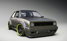 VW Golf Mk2 Turbo in Studio by Alexandre Guilbeault
