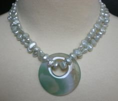 Fresh Water Pearl Necklace in Mint with by PlayhouseVintageShop