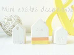 Mini casitas decorativas con pasta de modelar y washitape