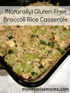 Broccoli Rice Casserole | Naturally Gluten-Free, so it's good for everyone and tastes great