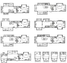 Best 5th Wheel Floor Plans Fifth Wheel Floorplans camping