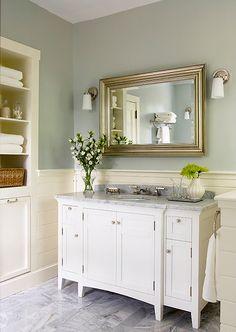 elegant bathroom http://www.houseofturquoise.com/2009/10/beautiful-oasis.html