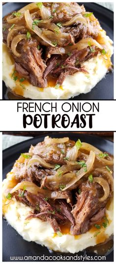 Pot Roast Recipes, Meat Recipes, Slow Cooker Recipes, Crockpot Recipes, Cooking Recipes, Easy Dinner Recipes, Healthy Recipes, Beef Dishes, Food Dishes