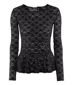 Lace peplum top from H & M!