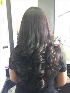 Beautiful Hair. Long Black Hair, Long Layered Hair, Very Long Hair, Long Hair Cuts, Dark Hair, Curled Hairstyles For Medium Hair, Permed Hairstyles, Pretty Hairstyles, Hairstyle Men