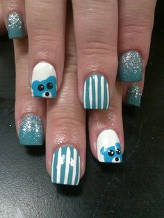 Baby boy nail art!